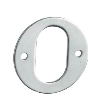 5375-13 - Oval Cylinder Escutcheon with Exposed Fixing (each)