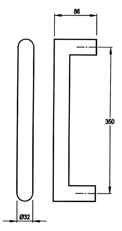5209 - Stainless Steel Pull Handle Straight