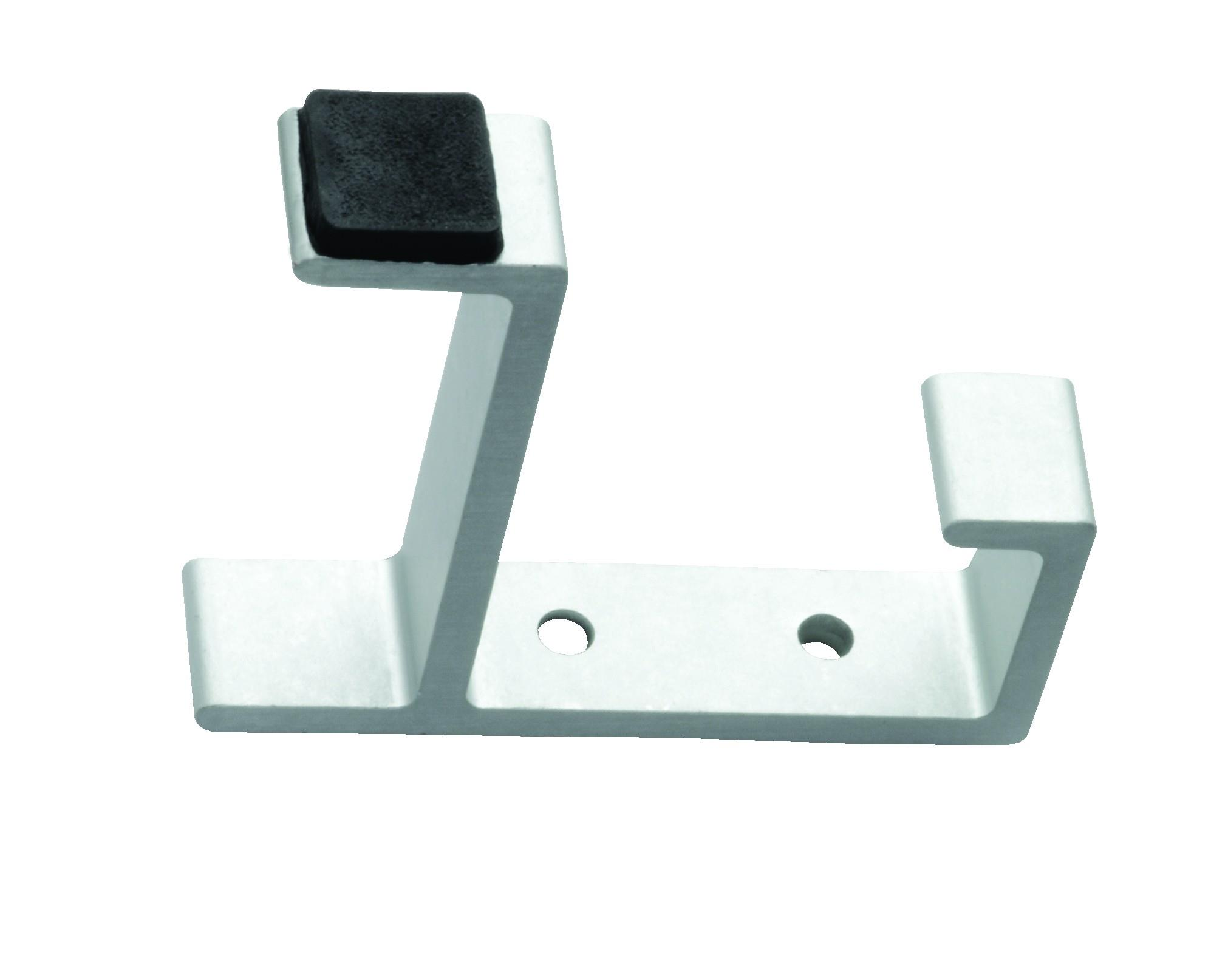 AL8722AS - Aluminium Rubber Tipped Hat & Coat Hook