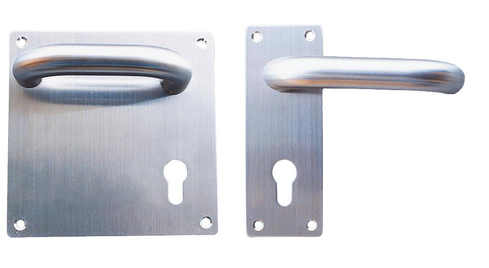 1002SES01 / 1002RES01 - Lever Handle on Square/Rectangular Backplate