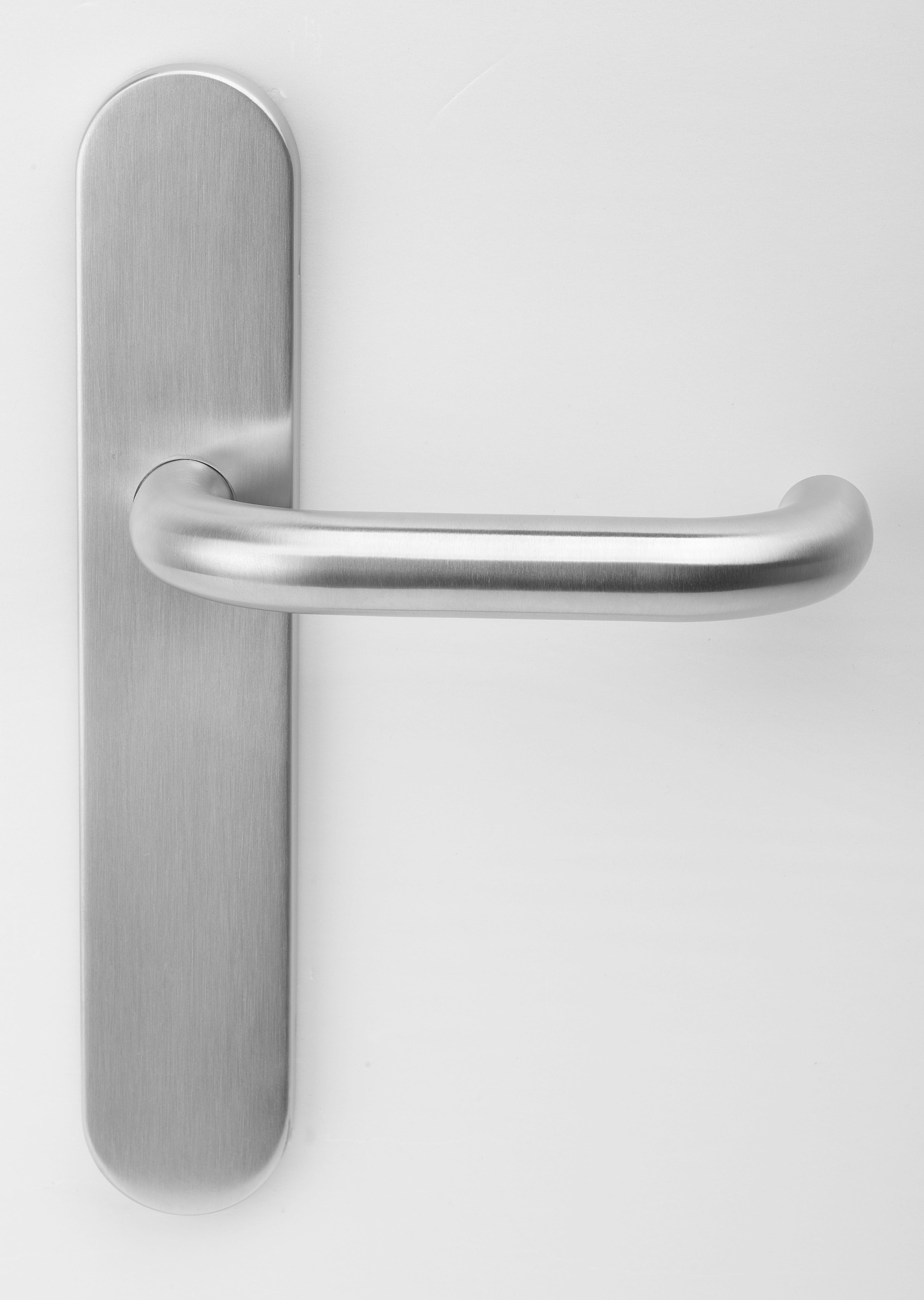 LHP-85-001-SSS - 001 Lever Handle on  Backplate