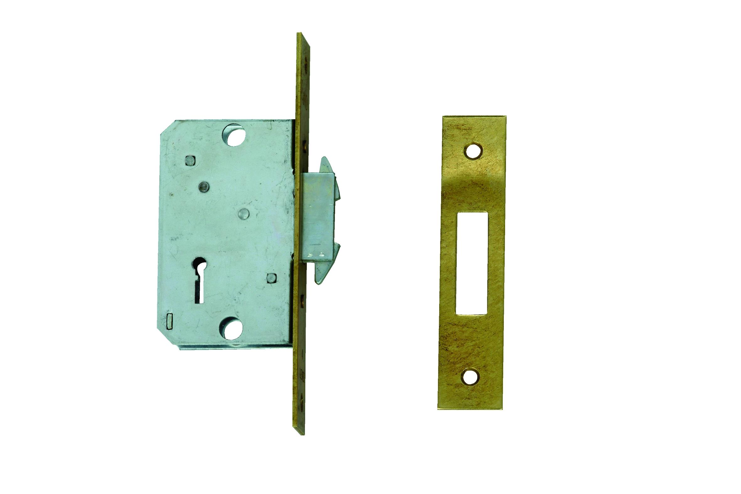 24313-55 - Narrow Stile 4 Lever Wing Bolt Sliding Door Lock