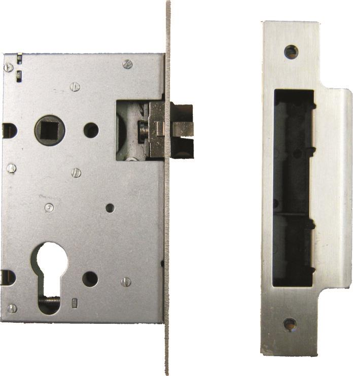 L-2215-78SS/SL - Euro Profile Mortice Sash Lock with Silent Latch