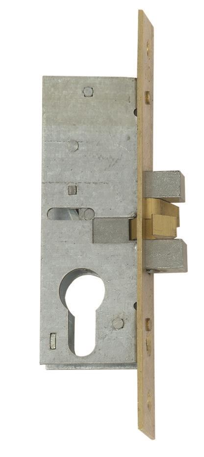 L-24315-40 - Narrow Stile Euro Profile Cylinder Claw Bolt Sliding Door Lock