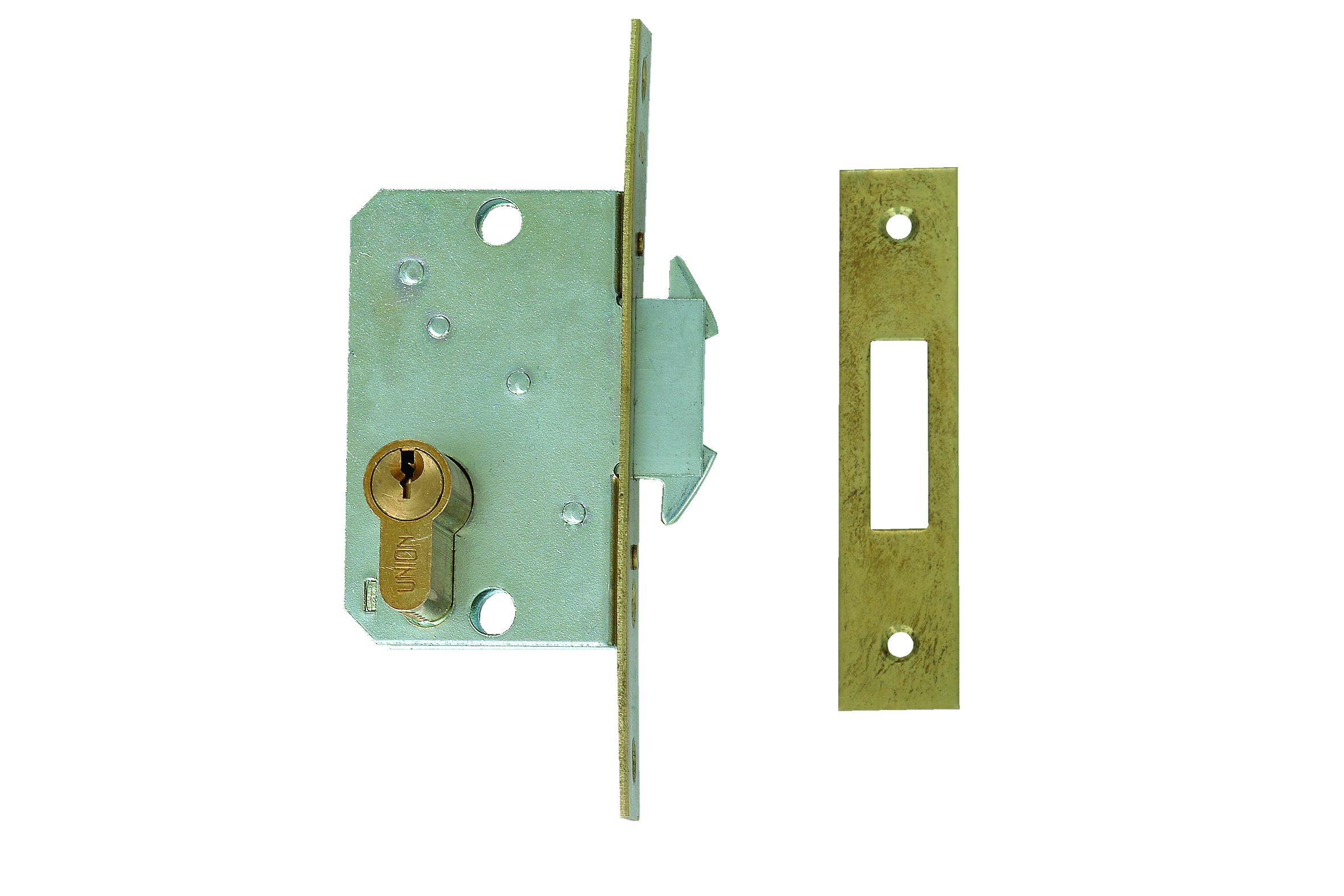 L-24315-55 - Narrow Stile Euro Profile Cylinder Wing Bolt Sliding Door Lock