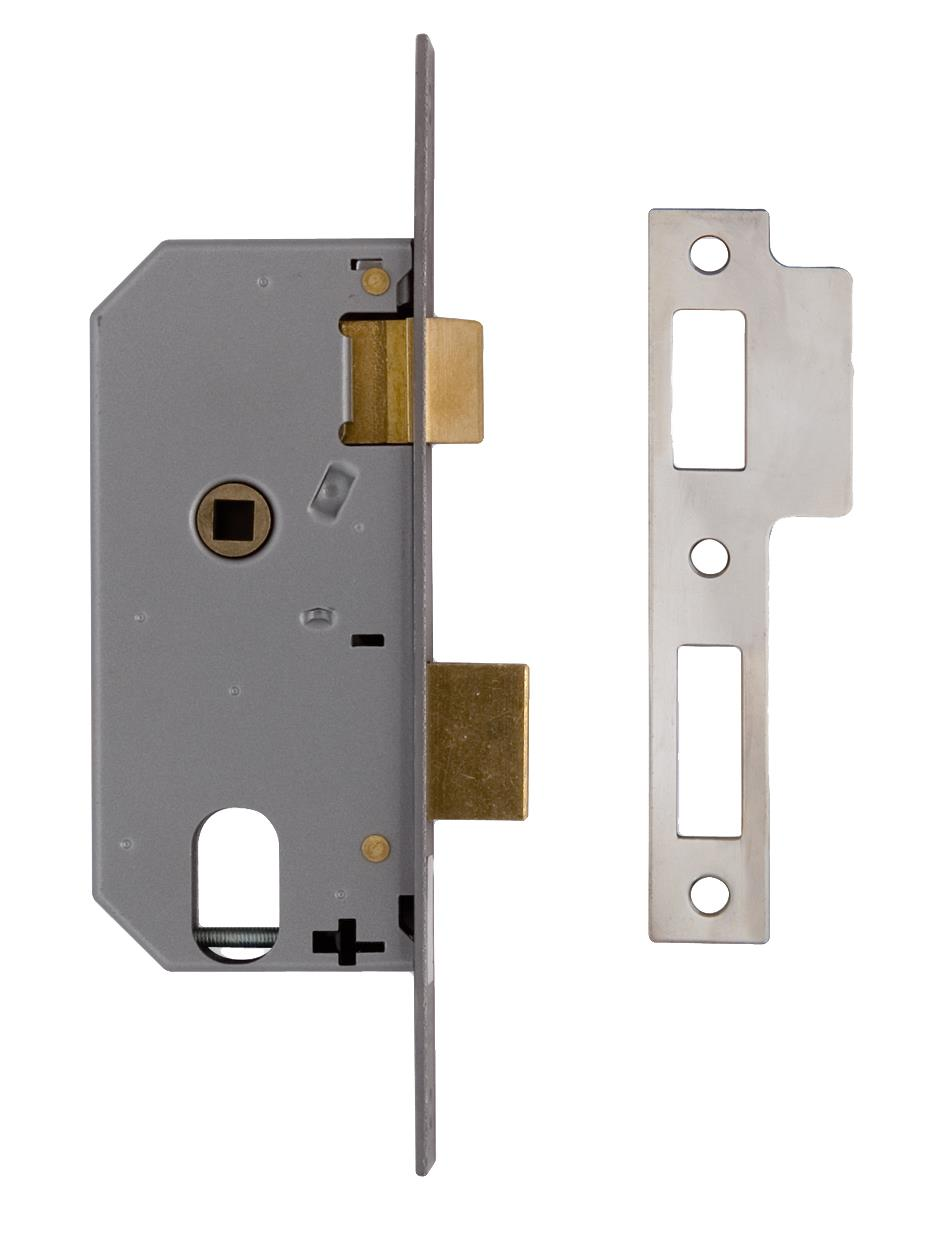 L2278 - Oval Profile Double Throw Mortice Sash Lock