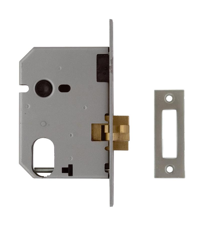 L-2441-78 - Oval Profile Mortice Sliding Door Lock