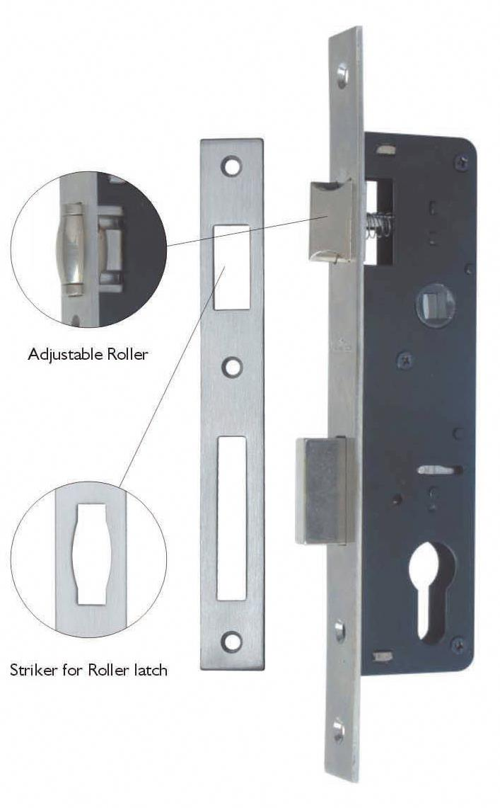 Q(25/35)X85MM/QR(25/35)X85MM/QD(25/35)X85MM - Narrow Stile Aluminium Door Lock