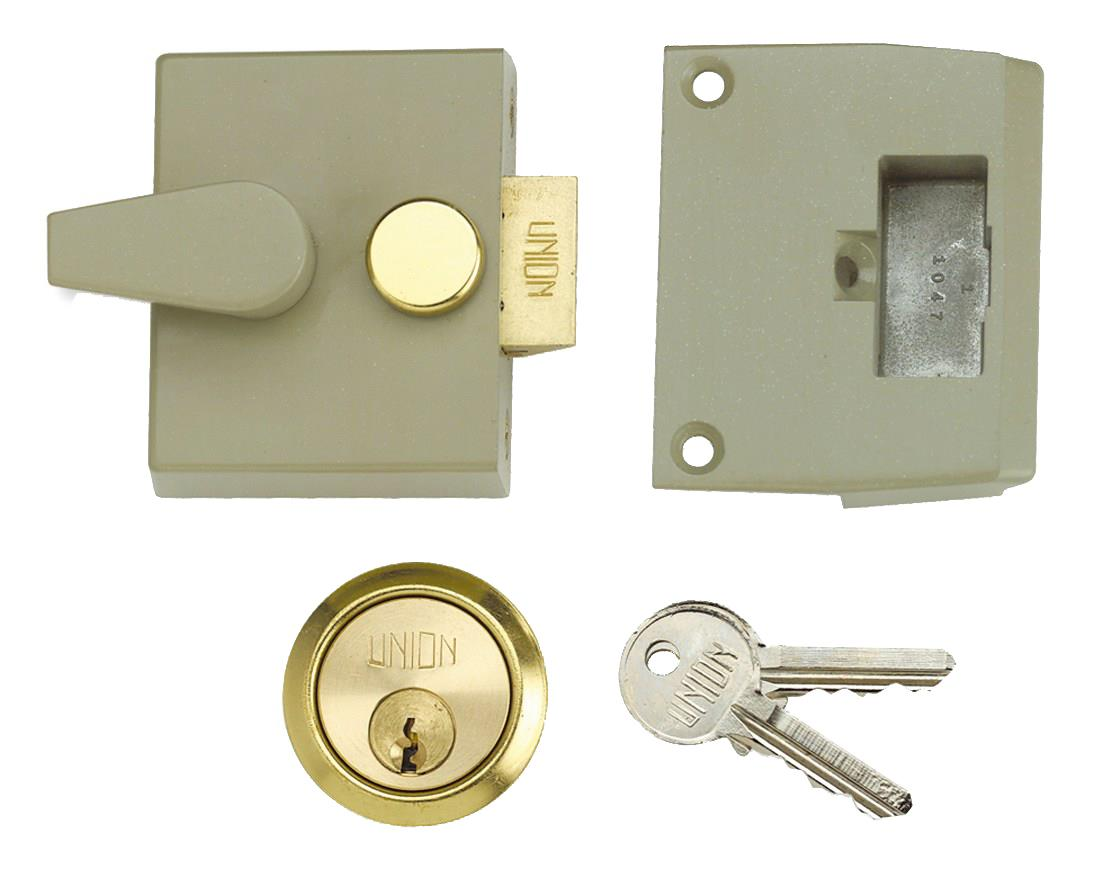 1027 / L1027 - Narrow Stile Cylinder Night Latch