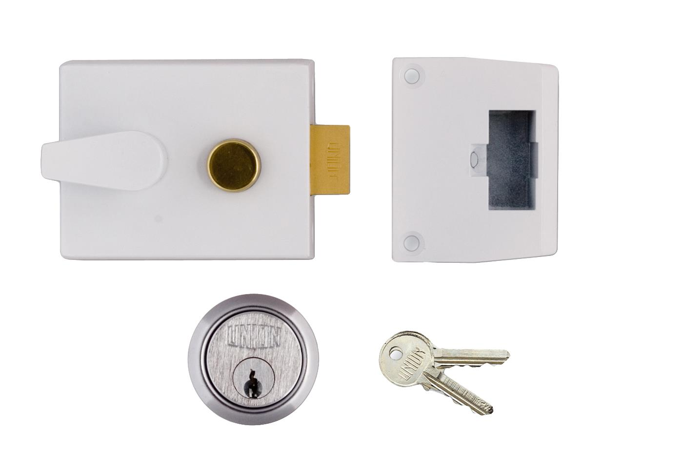 1048 / L1048 - Standard Stile Cylinder Night Latch